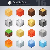 Isometric Material Cubes