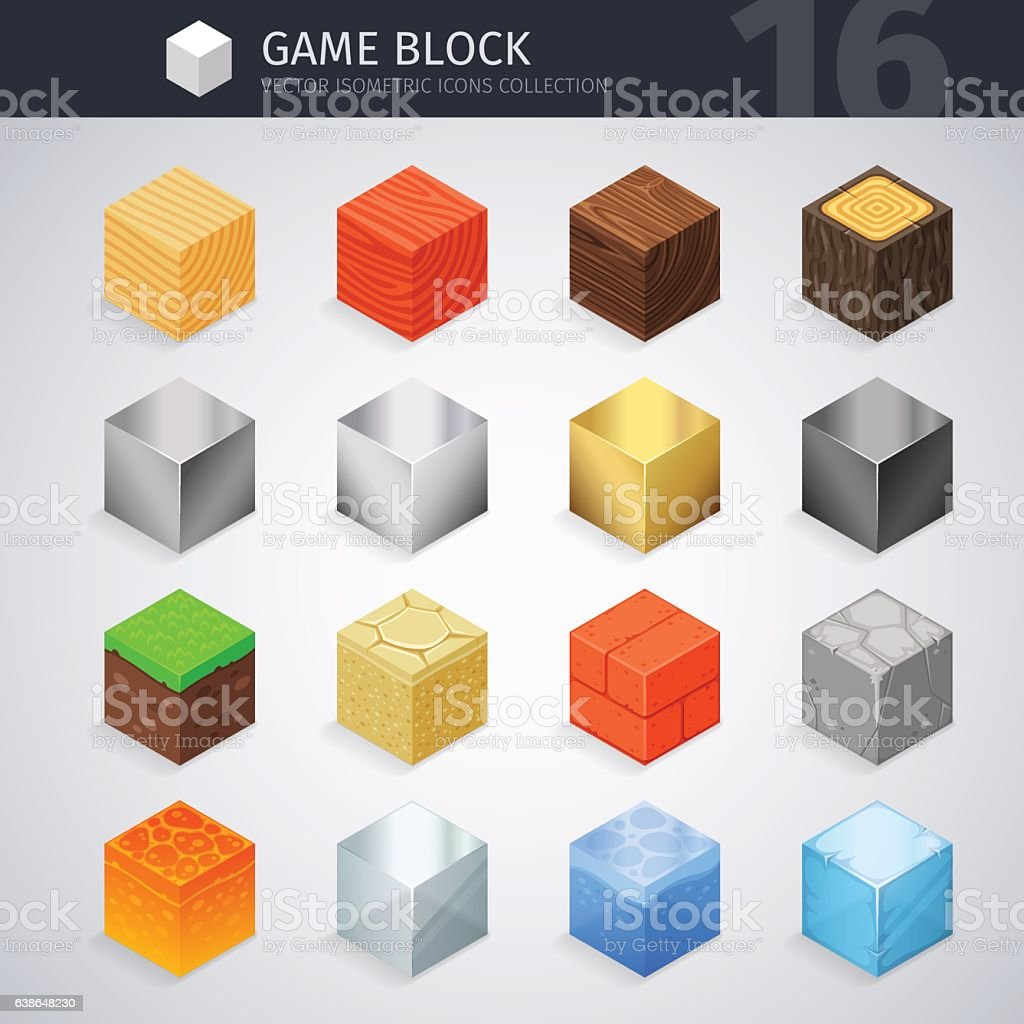 Isometric Material Cubes vector art illustration