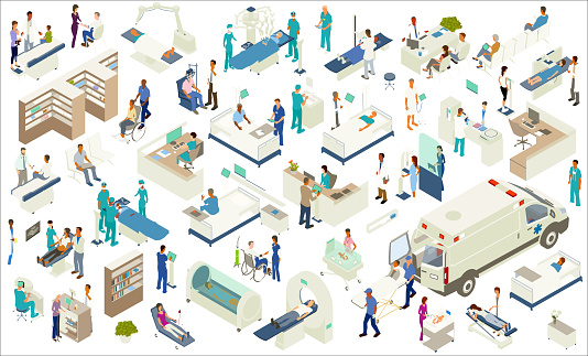 Isometric Medical Icons Stock Illustration - Download Image Now