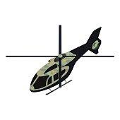 Isometric military helicoper