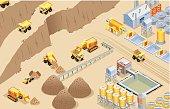Isometric mining, made in adobe Illustrator (vector)