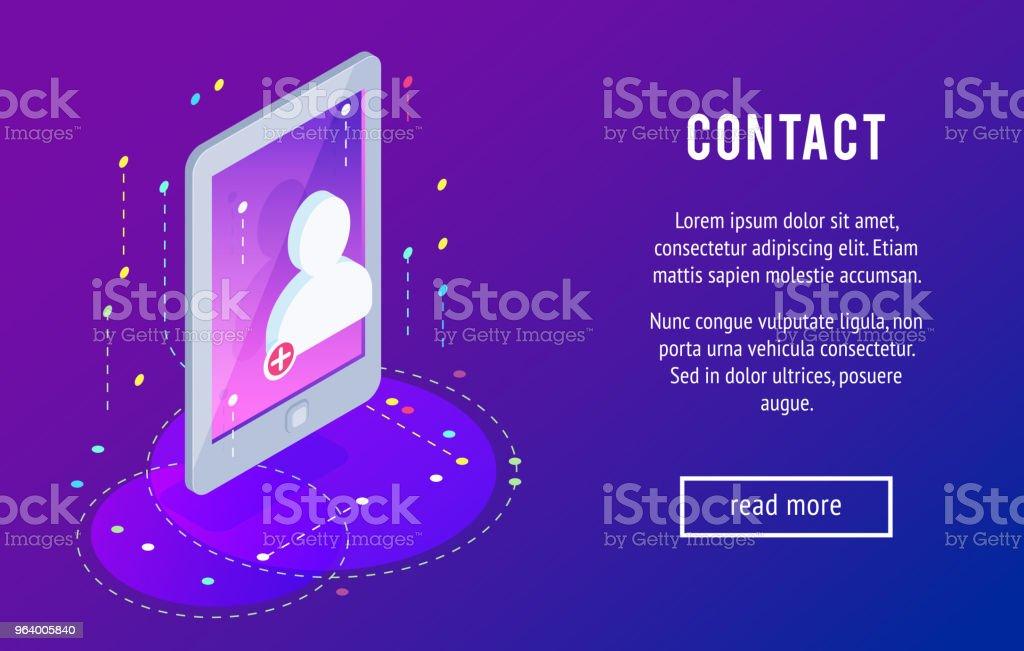 新しい連絡先アイコンを等尺性の携帯電話。 - 3Dのロイヤリティフリーベクトルアート