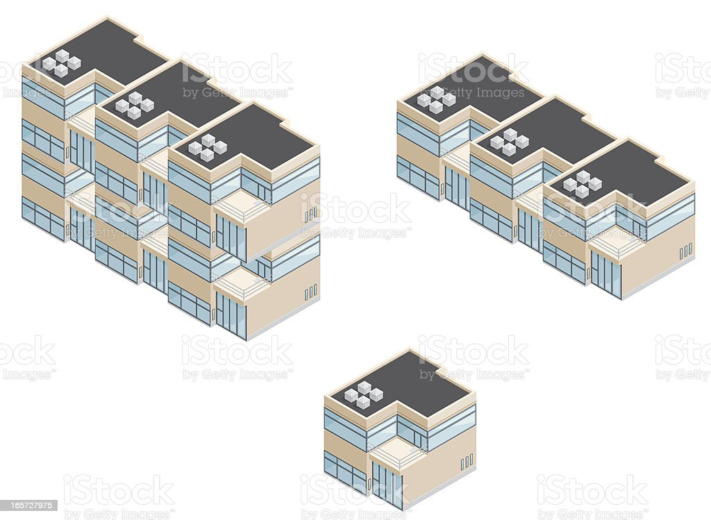 Isometric Modern Apartments. royalty-free stock vector art