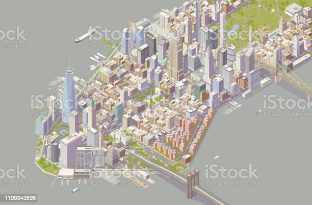 Isometric New York Stock Illustration - Download Image Now