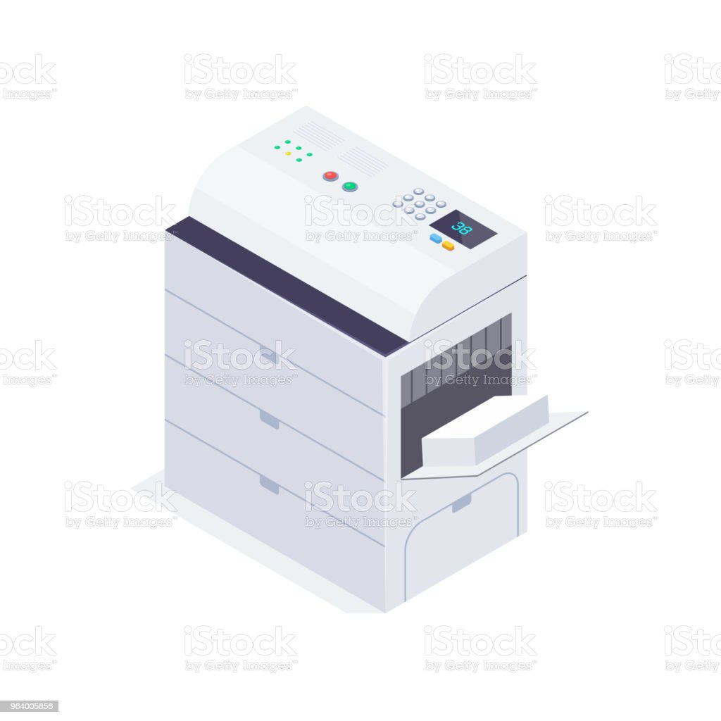 Isometric office copier. - Royalty-free Business stock vector