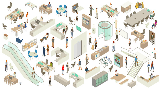 Isometric Office Icons
