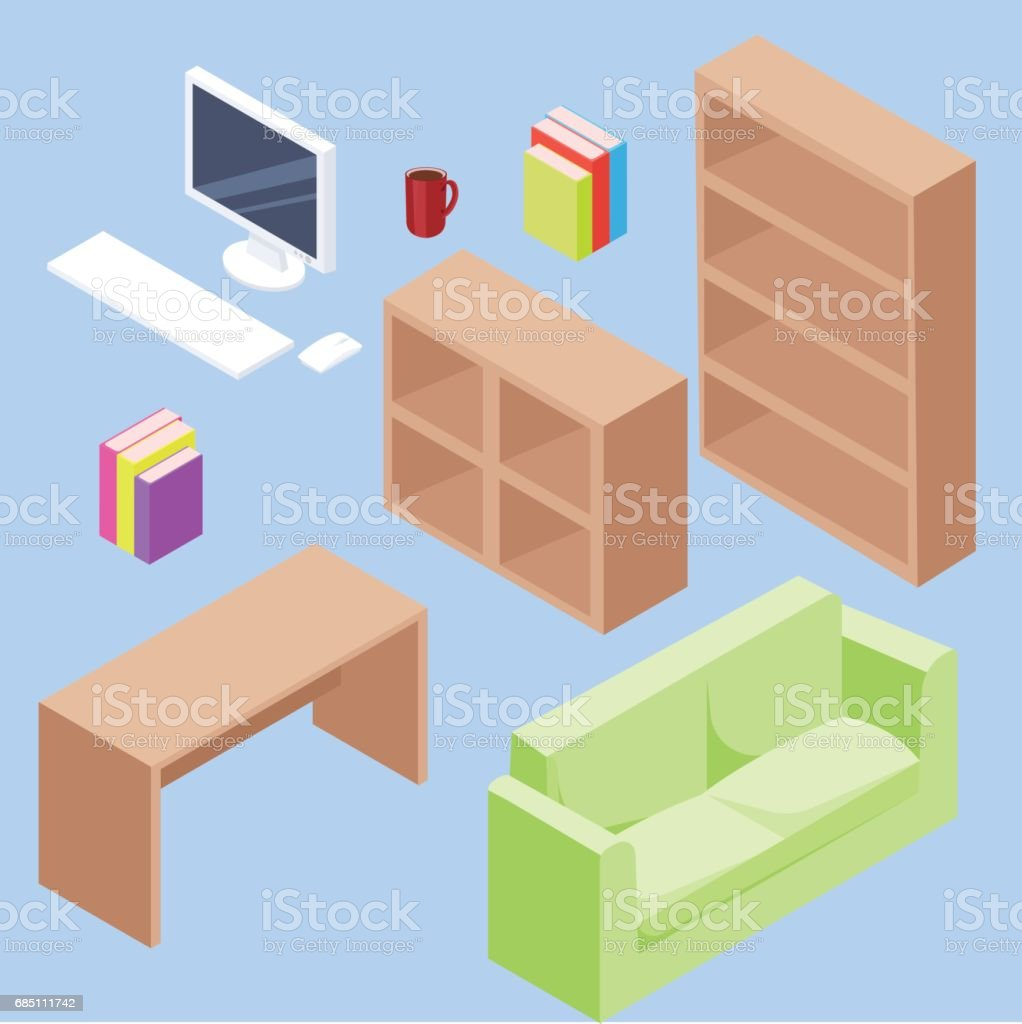 isometric office set royalty-free isometric office set stock vector art & more images of adult