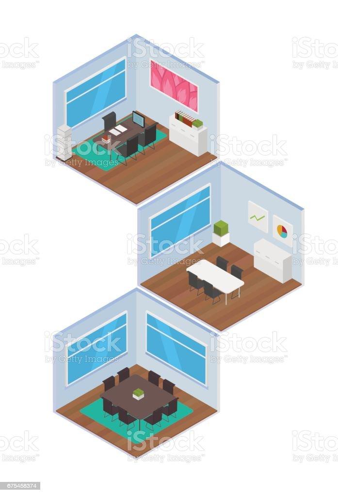 Espace de bureau isométrique espace de bureau isométrique – cliparts vectoriels et plus d'images de abstrait libre de droits