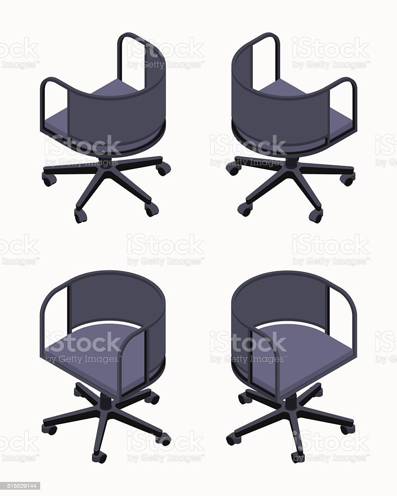 isometric office spinning black chairs royaltyfree isometric stock vector art furniture collection i97 vector