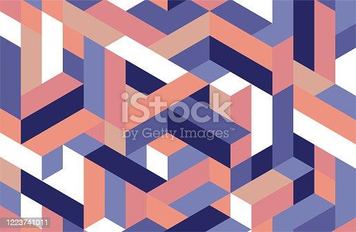 Isometric Pattern Design Background