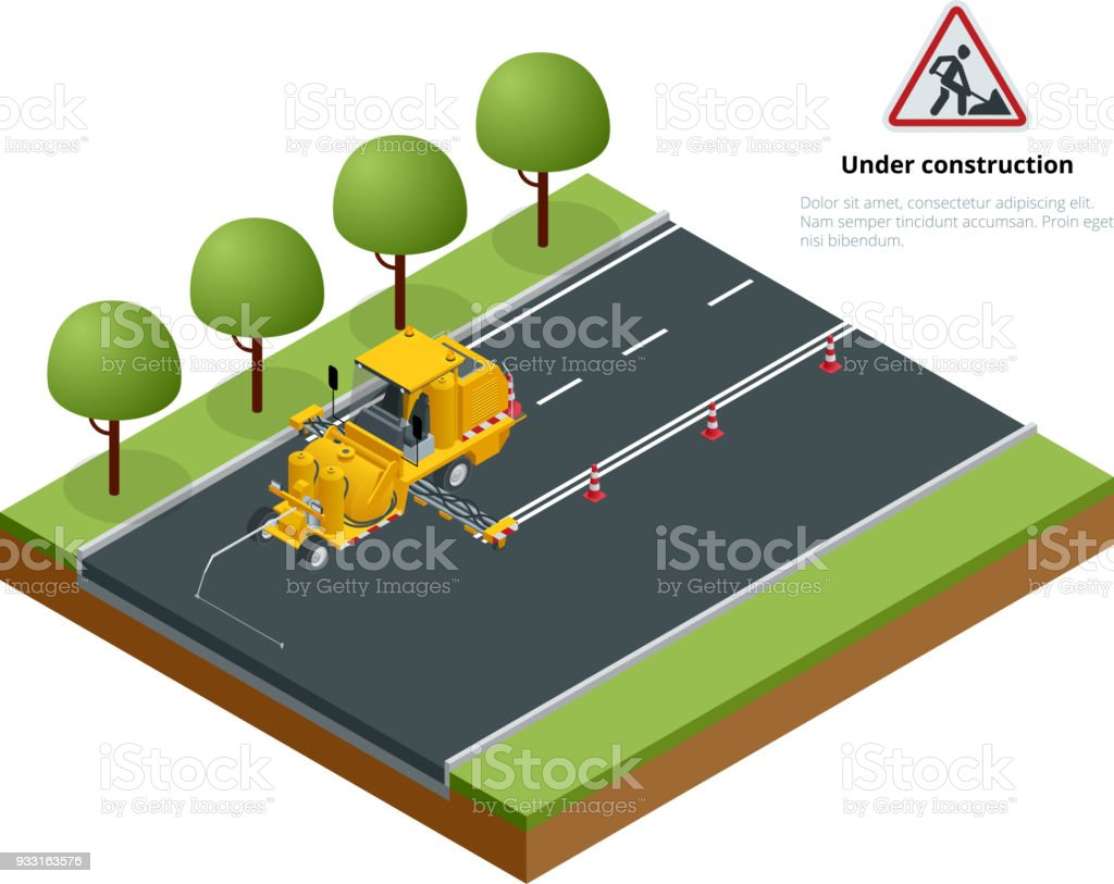 Isometric Pavement Asphalt Road Marking Paint And Striping
