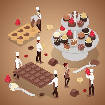 Chocolate stock illustrations