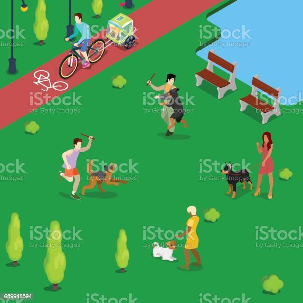 Isometric people training dogs in the park vector id689948594?b=1&k=6&m=689948594&s=612x612&h=oro0yb4 enorr4qzpaiir24elz79y1rst1ib6bmpdkg=