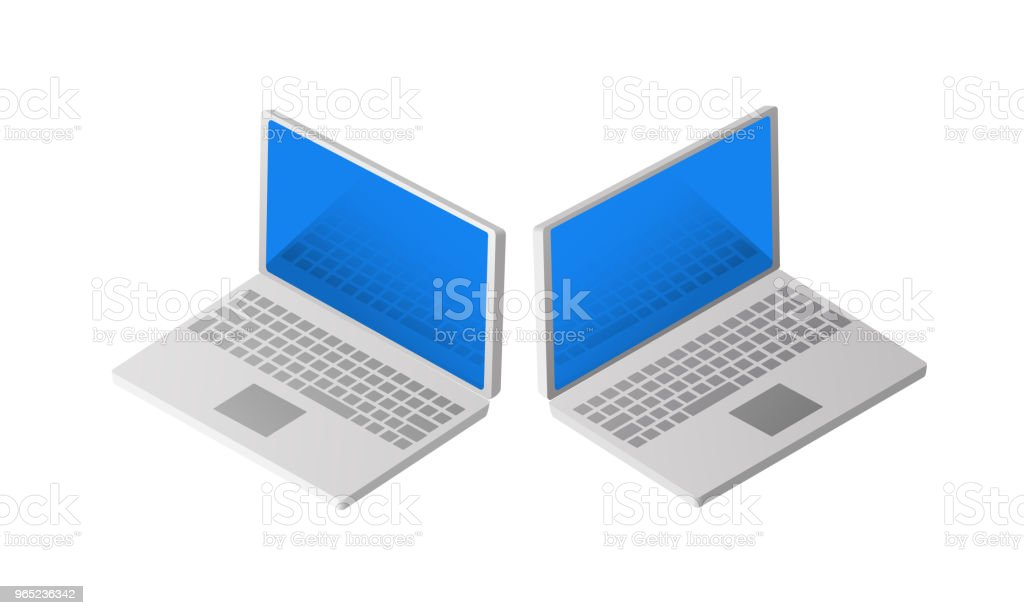 Isometric Personal Computer royalty-free isometric personal computer stock vector art & more images of backgrounds