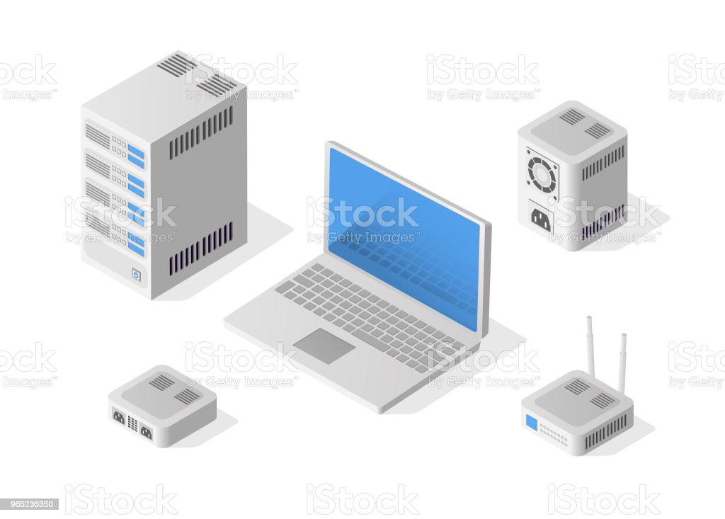 Isometric Personal Computer isometric personal computer - stockowe grafiki wektorowe i więcej obrazów bez ludzi royalty-free