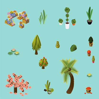 Isometric Plants and Flowers