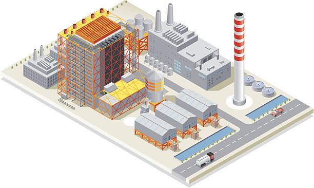 Isometric, Power Station Isometric, Power Station, made in adobe Illustrator (vector) power station stock illustrations