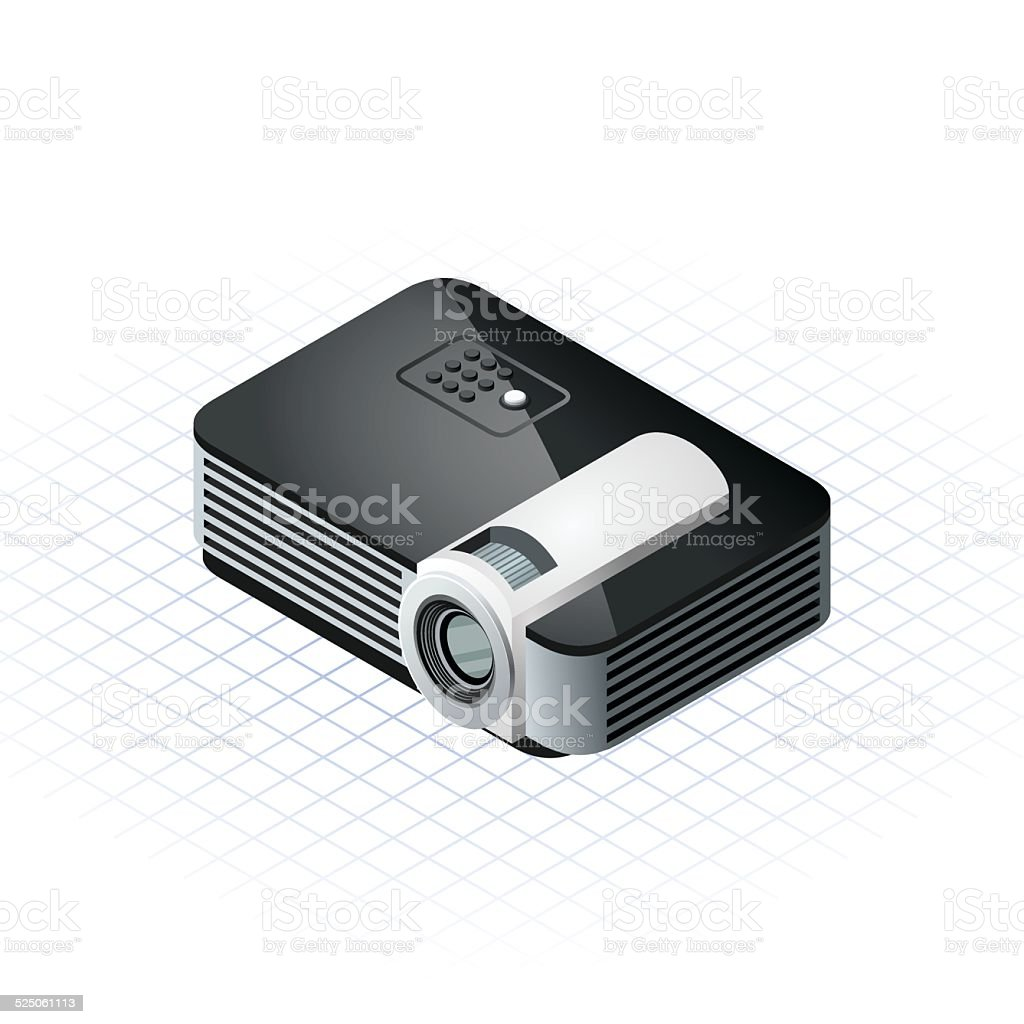 Isometric Projector Vector Illustration vector art illustration