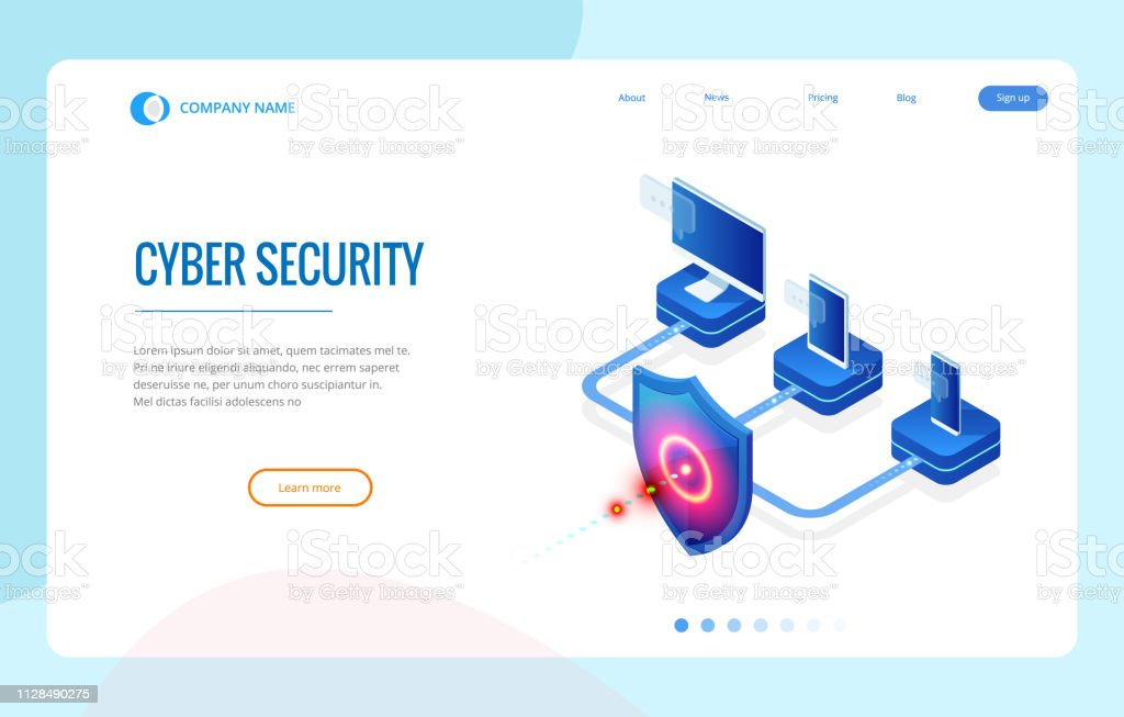 Isometric Protection Network Security And Safe Your Data