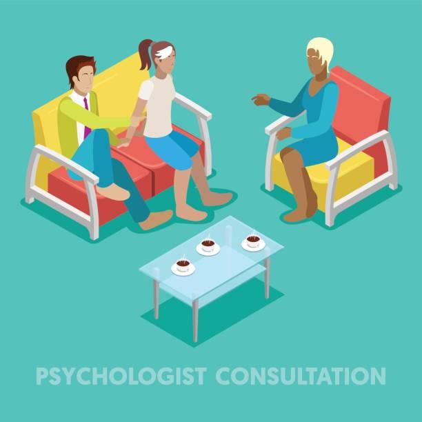 等尺性心理学者相談 - 診察室点のイラスト素材/クリップアート素材/マンガ素材/アイコン素材