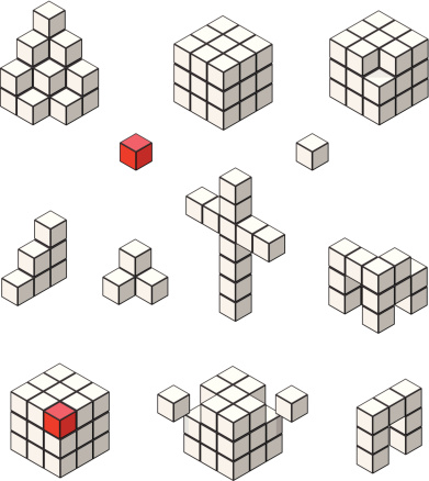 Isometric Puzzle Cube Icon