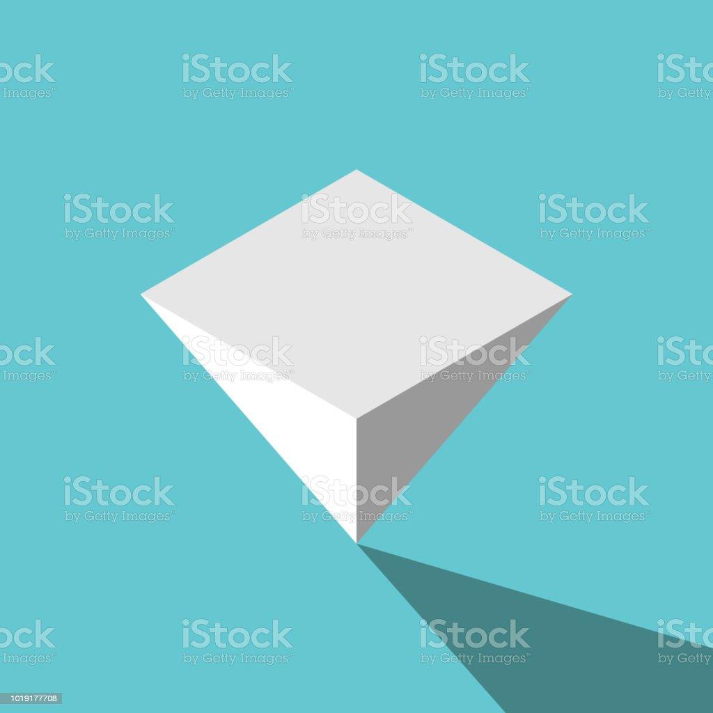 Isometrische Pyramide auf den Kopf gestellt – Vektorgrafik