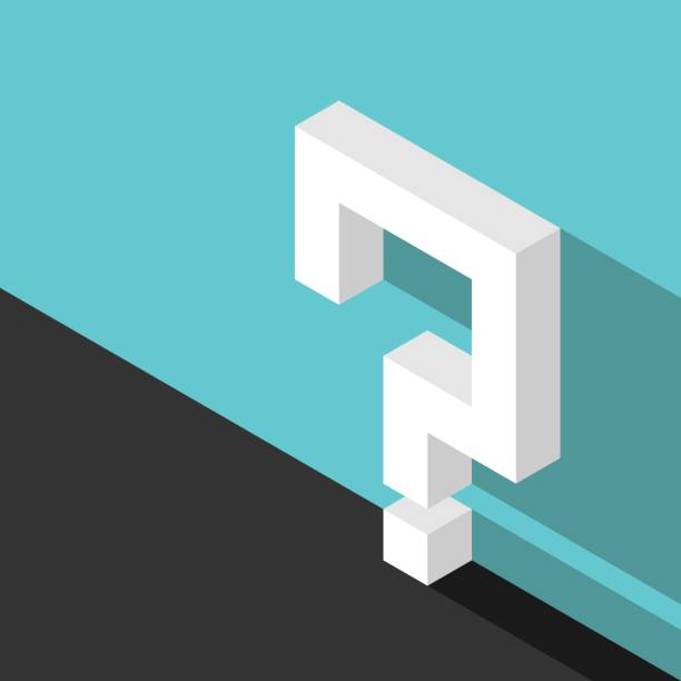 Isometrische Fragezeichen, Wand – Vektorgrafik