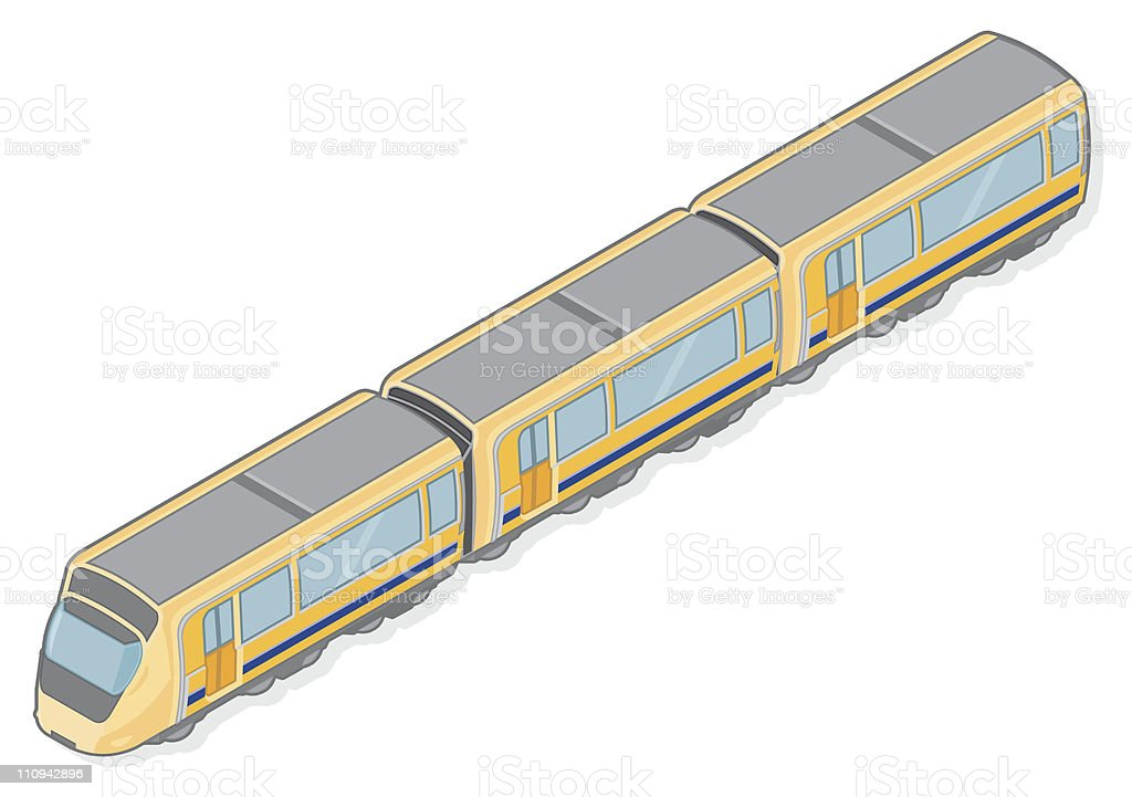 Isometric Railway Train with Carrages royalty-free isometric railway train with carrages stock vector art & more images of business travel