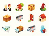 A set of royalty-free real estate icons