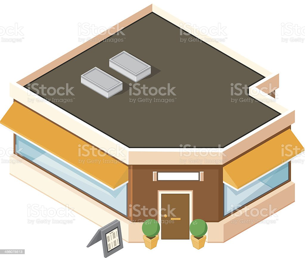 Isometric Restaurant royalty-free isometric restaurant stock vector art & more images of architecture