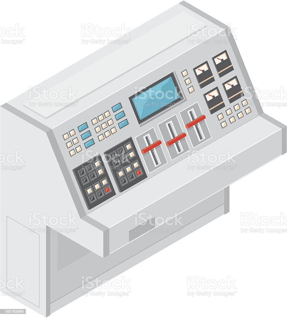 Isometric Retro Console. vector art illustration