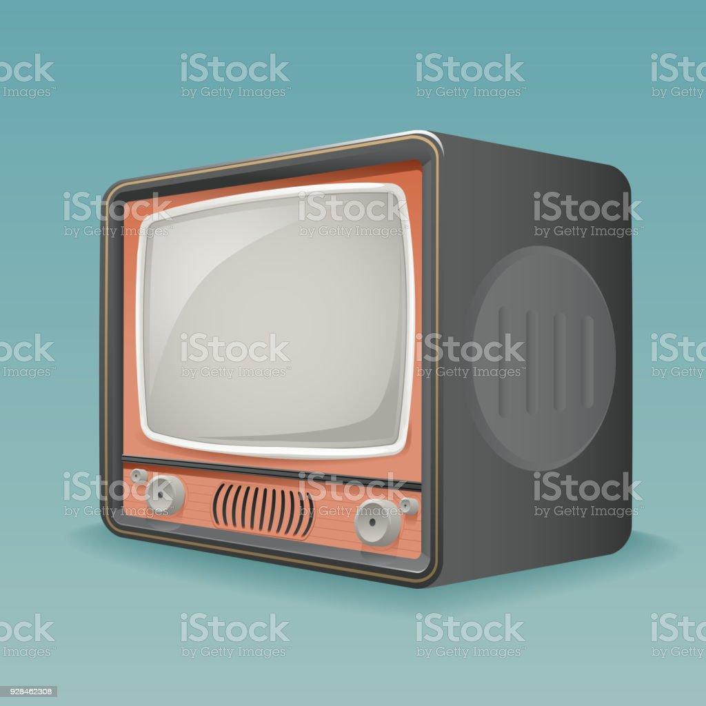 Ilustración de Isométrica Retro Vintage Antigua Tv Marcador Marco ...