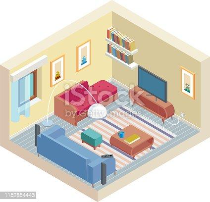 istock Isometric Room 1152854443