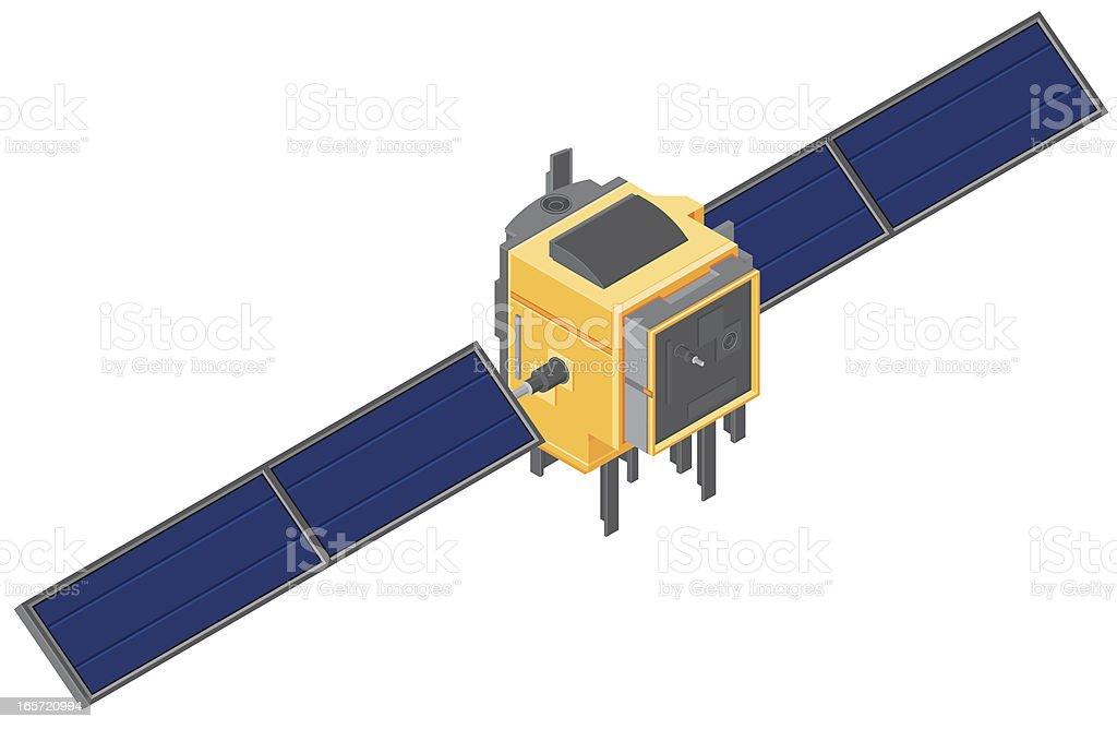 Isometric Satellite royalty-free stock vector art
