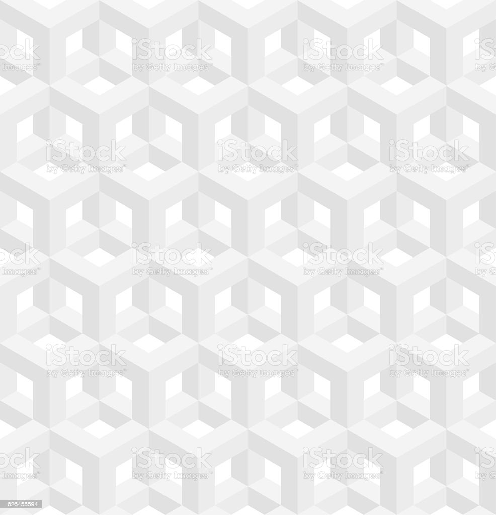 Isometric seamless pattern. Molecular structure background. vector art illustration