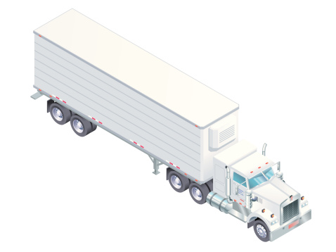 Isometric Semi-Trailer Truck