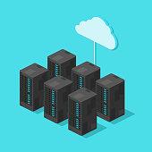Computing Network Hardware Vector Icon