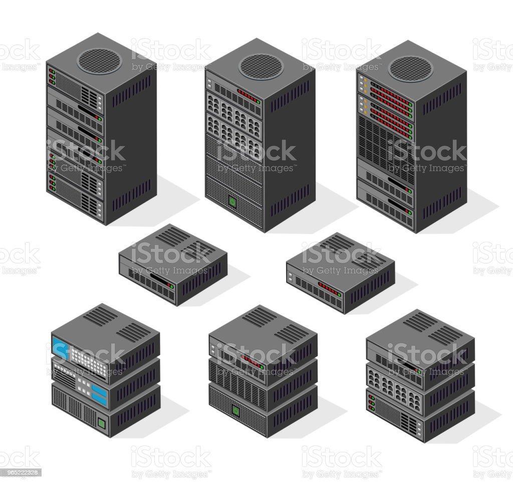 Isometric set 3D computer isometric set 3d computer - stockowe grafiki wektorowe i więcej obrazów bez ludzi royalty-free