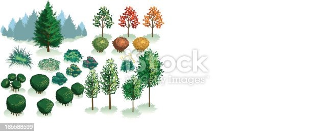 Need to landscape a plain building or just want to make the world a greener place? You need Isometric Foliage. Here's a variety of plants,evergreens and trees, each grouped with a shadow. Great for smaller reforestation projects.