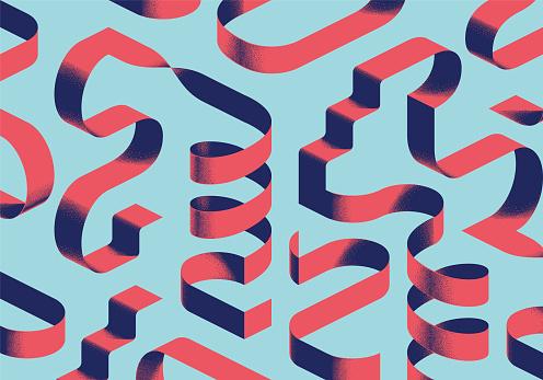 isometric shapes background