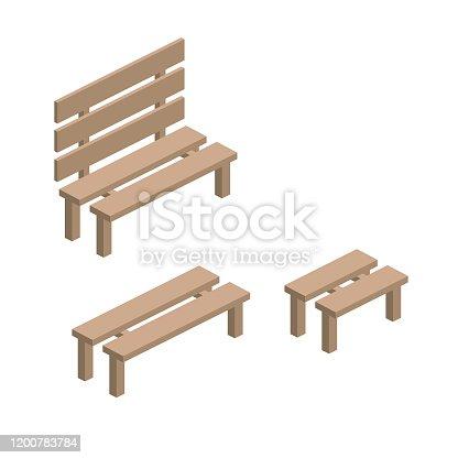 Isometric Single Element - Park Bench