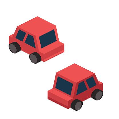 Isometric Single Element - Simple Vehicle