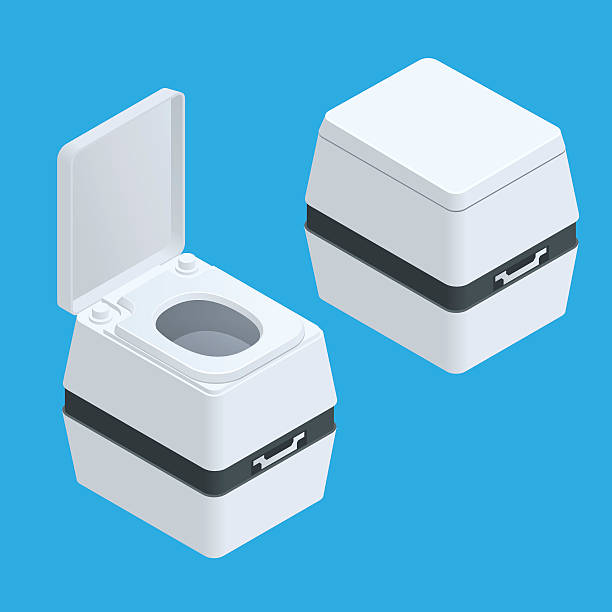 Royalty Free Toilet Clip Art Vector Images: Best Portable Toilet Illustrations, Royalty-Free Vector
