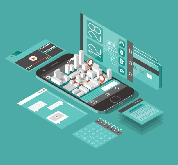 Smartphone stock illustrations
