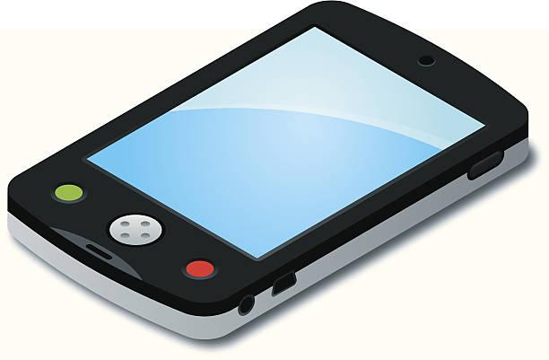 Isometric Smartphone vector art illustration