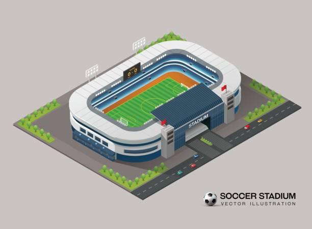 等尺性のサッカー スタジアム - スタジアム点のイラスト素材/クリップアート素材/マンガ素材/アイコン素材