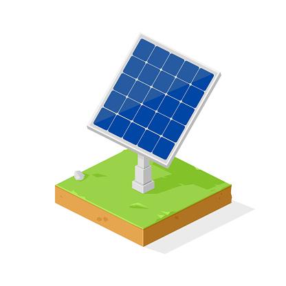 Isometric Solar Panel Vector Illustration