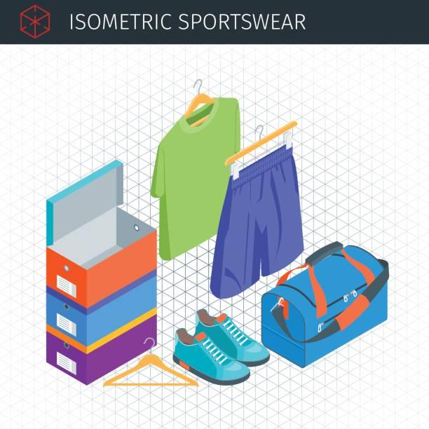 Bекторная иллюстрация Isometric sportswear set