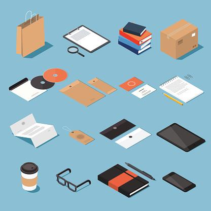 Office equipment stock illustrations