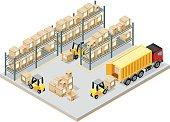 Isometric, Storage Room made in adobe Illustrator (vector)